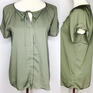 41 HAWTHORN Fully Lined Ruched Sleeve Blouse